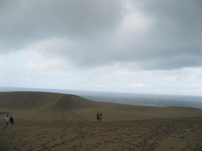 撮影場所から車で約10分のところには鳥取砂