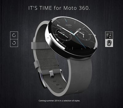 時計らしいデザインのMotorolaのMoto 360