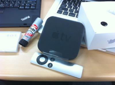 非常に小さいサイズのAppleTV