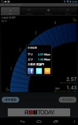 Wi-Fi接続での計測結果