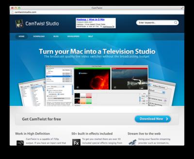 CamTwist Webサイト