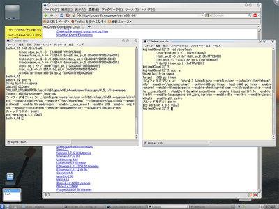 図1 Plamo-4.73内のCLFS x86-64環境