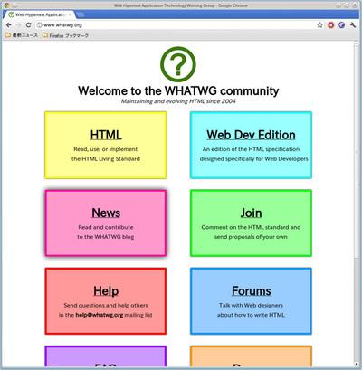 図2 WHATWGのホームページ