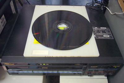 VHDのプレイヤーとディスク
