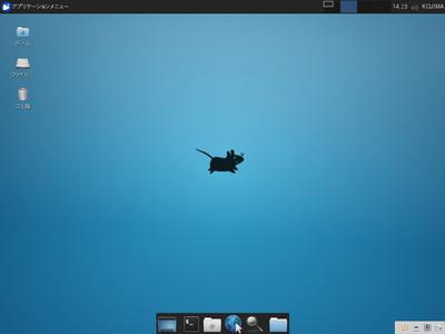 図1 デフォルトテーマやアイコンを変更したXfceの画面