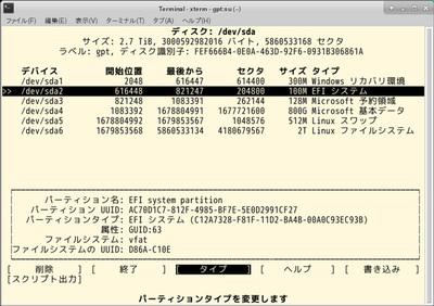 図1 GPT HDD上のESP