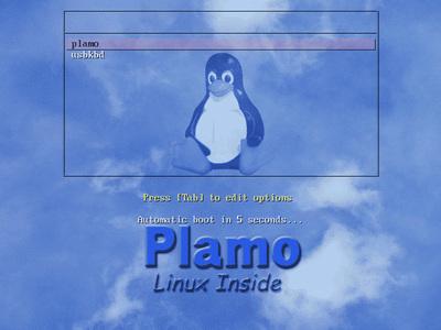 図3 System BIOSから起動したisolinux.cfgの起動画面