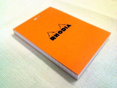カードとして使うRHODIA(ロディア)No 11