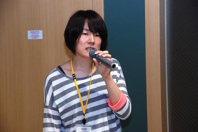 発表者のうち紅一点となった岩尾さんは,自身の経験談を惜しげなく披露