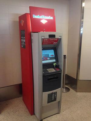 Bank of AmericaのATM(ロス空港内)