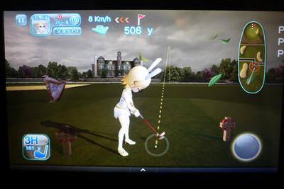 写真4 Kindle Fireで表示したゲームロフト社の『Let's Golf !3』