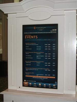 会場のゲイロード・オープリーランド・リゾート・アンド・コンベンション・センターにある開催スケジュールの一覧