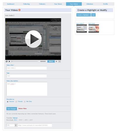 図16 ユーザーメニューの「Your Videos」
