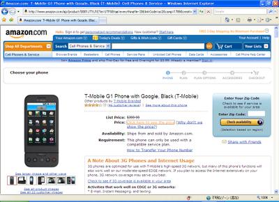 写真1 $97.99で米Amazonで販売されているG1