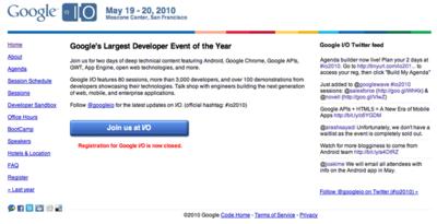 サンフランシスコで5/19,20に開催されるGoogle I/Oでは,Android関連のセッションも多く開催される。