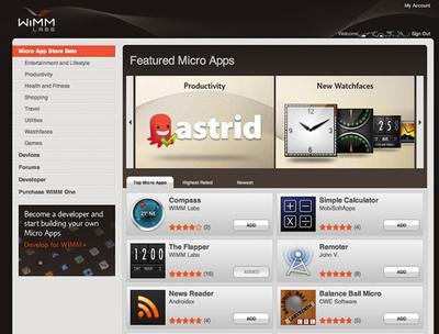 独自のアプリストア「Micro App Store」