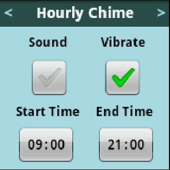 Hourly Chimeの設定画面。細かな設定が出来るところがポイント