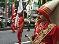 6月6日,表参道で行われた記念パレードの様子
