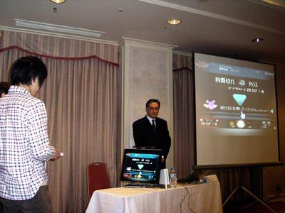 発表会出席者の中からWiiユーザを募り,その操作性を確認させた。