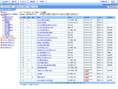 desknet's CAMSの管理画面イメージ