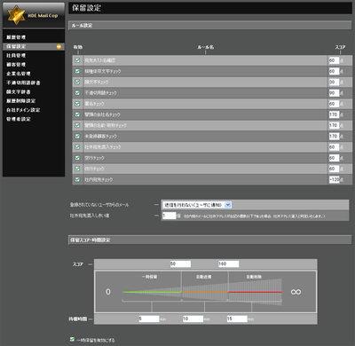 HDE Mail Cop 1.0の操作画面