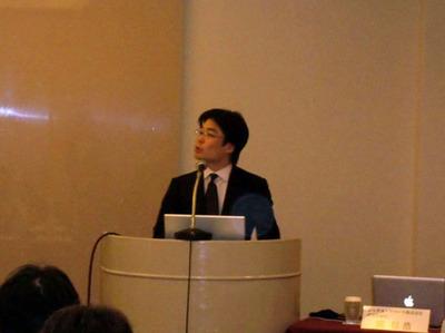 Movable Type 5について発表するシックス・アパート代表取締役,関信浩氏