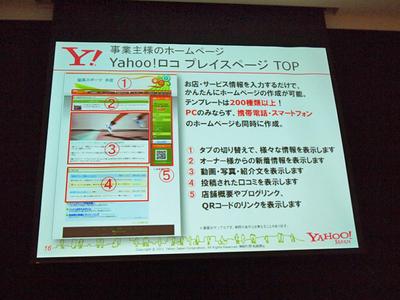 Yahoo!ロコ プレイスページのイメージ