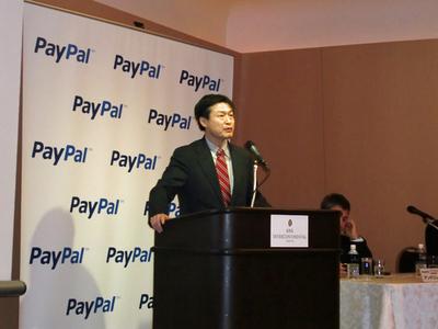 新ソリューションを発表するペイパルジャパン株式会社マーチャントサービス部長 大橋晴彦氏