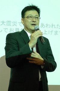 発表会見に立ったグーグル代表取締役の有馬誠氏