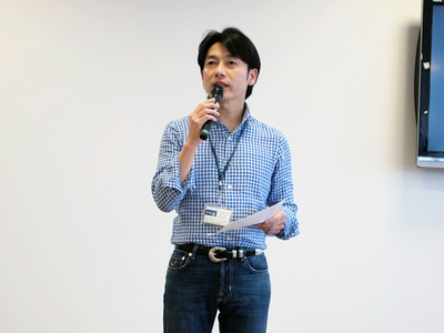 「優秀な人材が集まり家族のような関係を作りながら,世界一のサービスを生み出せる企業を目指したい」と述べる熊谷氏。