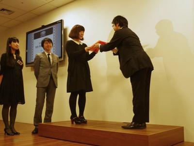 12月15日に開催された授賞式の様子