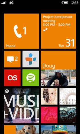 Windows Phone 8のスタート画面