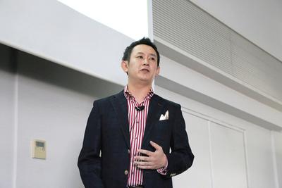 corabbitの狙い,強みについて説明した高畑哲平氏