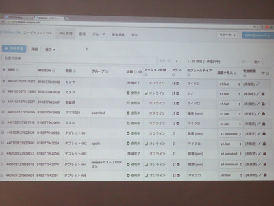 ユーザーコンソールからSIM1枚単位で制御可能