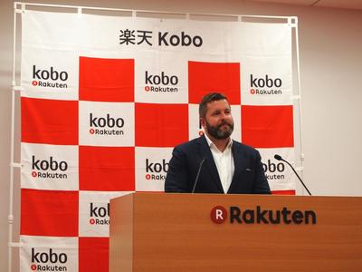 今回の発表に合わせて来日したカナダRakuten Kobo Inc. CEOのマイケル・タンブリン氏