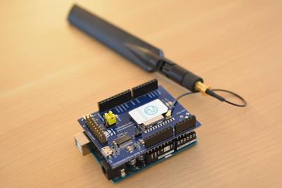 同LoRaデバイス,Arduinoボードに組み込まれている