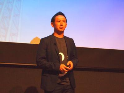 Canva日本語版リリースにあたり,日本での展開に向けたビジョンと期待を述べる,株式会社KDDIウェブコミュニケーションズ代表取締役副社長 高畑哲平氏
