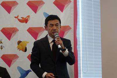 日本での展開を紹介する三橋秀行氏