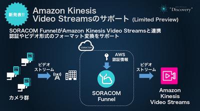 Amazonとの連携として,このほか「Amazon Kinesis Video Streams」がLimited Previewとしてサポートされた