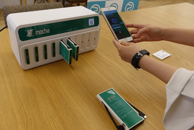 モバイルバッテリーシェアリング「mocha」のデモ