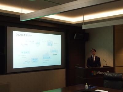 Microsoft AIの展望について話す,日本マイクロソフト株式会社業務執行役員クラウド&エンタープライズ本部本部長 浅野智氏