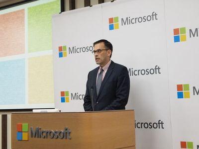 これからの若者たちが持つ可能性・スキルを発揮でき,活躍できる場所・環境を提供したいとコメントした日本マイクロソフト株式会社代表執行役社長 平野拓也氏