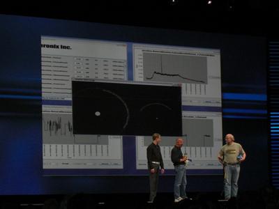 写真4 CO2センサーのデモ。技術とともに環境問題についても触れた。アプリケーションはJavaFXで開発されている