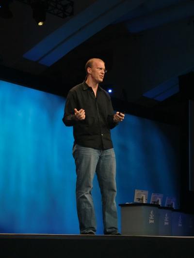 写真2 モバイルJavaの現在,そして未来について語ったEric Klein氏