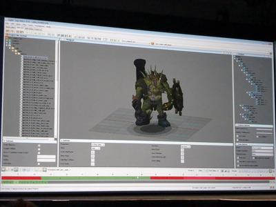 写真5 初日のJava Storeのデモにも登場した「Rune Scape 」のJagex。キャラクターのモデリングについて紹介しました