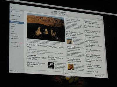 写真5 ニューヨークタイムズ社のAIRアプリケーション