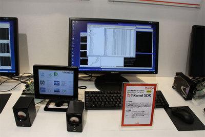 eT-Kernelの開発事例のデモ。GUIを完備したオーディオプレーヤーのアプリケーション