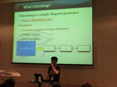 blockdiagの発表風景