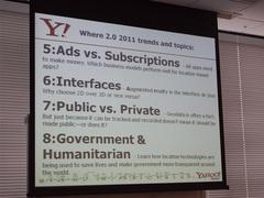 Where 2.0 2011からピックアップした8つのキーワード。HTML5などの技術的なものに加えて「Governmen