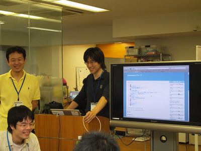 写真3 id:ninjinkun氏による開発環境指南
